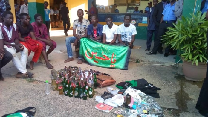 weapons found on protesting shiite members in Abuja