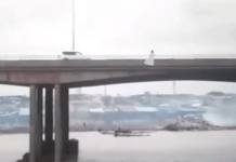 Viral video shows moment a lady tried jumping off the 3rd mainland bridge