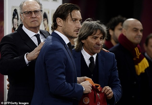 Football legend Francesco Totti breaks down in tears as he's inducted into Hall of Fame
