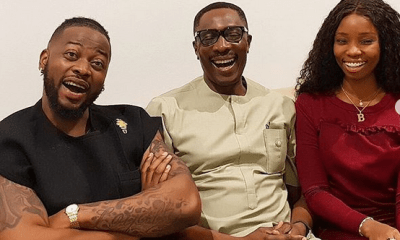 Bambam and Teddy A meet popular Lagos pastor Tony Rapu
