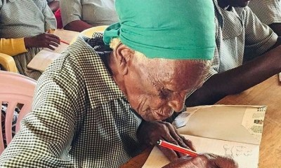 Kenyan woman enrolls in school to learn to read and write at 95