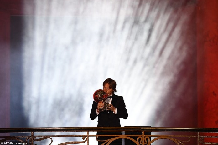 Luca Modric crowned world's best player at Ballon d'Or awards (Photos)