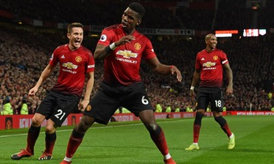 Pogba scores in Manchester United vs Bournemouth