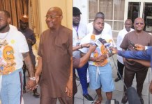 Davido meets Governor Wike at Rivers state Government House (photos)
