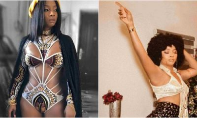 Toke Makinwa shows newly-fixed body in sexy swimsuit