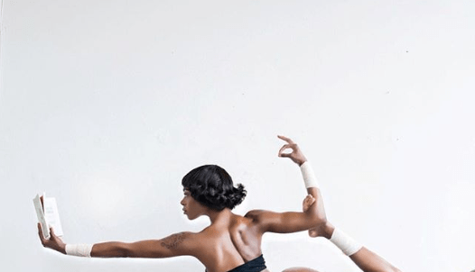 US-based Nigerian swimsuit model Michelle Okoro shows off her bare butt as she strikes a Yoga Pose 18+