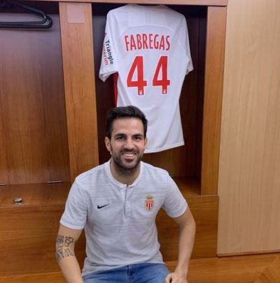 Cesc Fabregas completes switch to Monaco and will wear Jersey 44