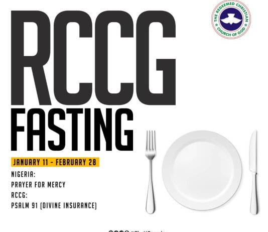 Day 4 RCCG 2019 Fasting and Prayer Points
