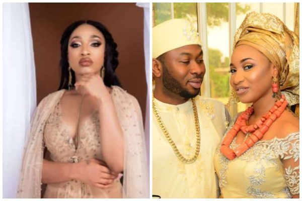 An overzealous follower of Tonto Dikeh took to her Instagram account to say a prayer for her that she will get back with her ex-husband,