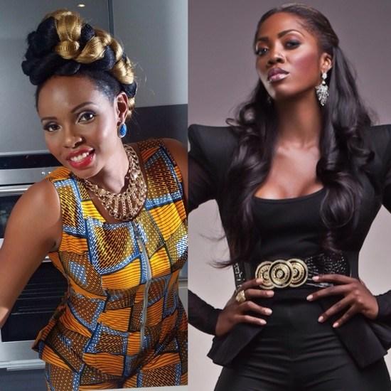 Yemi Alage and Tiwa Savage