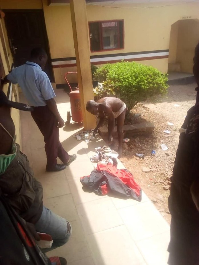 Man apprehended with female pants, bra and soaked sanitary pad in Ondo