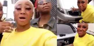 video currently going viral on social media, shows two slay queens flaunting their new toys. They claimed that they used men boxers to acquire the new Honda