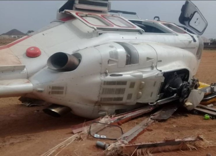 Vice President Osinbajo reacts after surviving helicopter crash