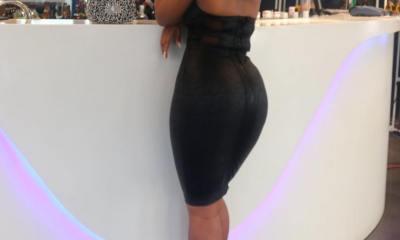 BBNaija's Cee-C shows hourglass curve in sexy black dress (Photos)
