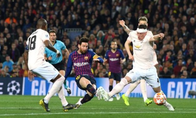 Barcelona thrash Man United 3-0 to enter Champions League semis