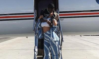 Kylie Jenner kissing Travis