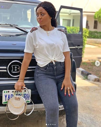 Regina Daniels showcases her new Mercedes Brabus on Instagram