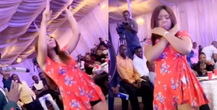 Regina Daniels Flaunts Baby Bump While Dancing (Video)