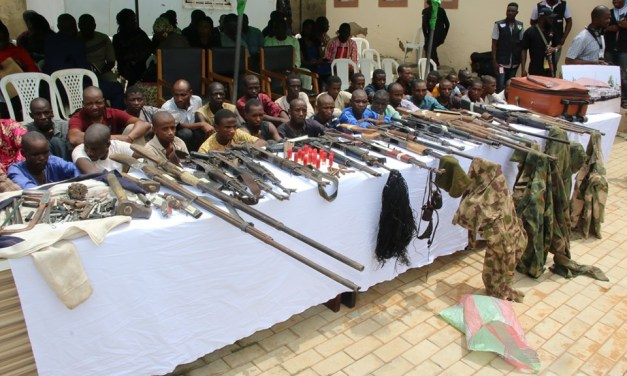 Nigeria Police recovers 30 firearms, 77 live Ammunition, 160 rustled cattle from 32 kidnap suspects