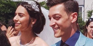 Ozil wedding with Amine Gulse