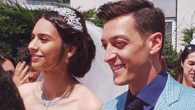 Ozil wedding with Amine Gulse