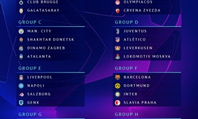 Champions League Group Stage draw - PSG vs Real Madrid