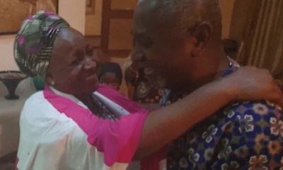 Dasuki reunites with his family after four years in DSS custody