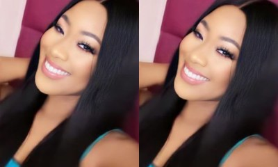 Star girl, Erica flaunts her new Bone straight hair (Video)