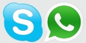 whatsapp y skype