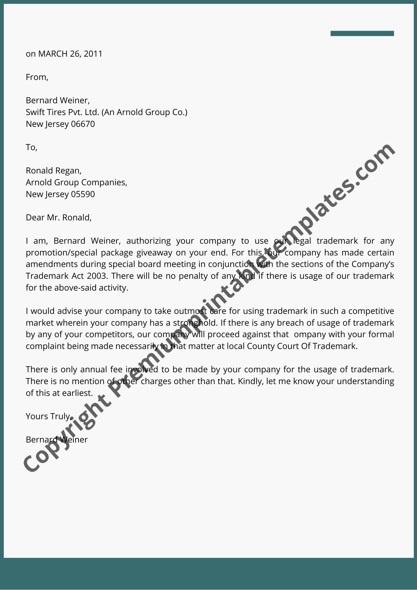 Legal Letter Format