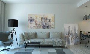 Paintings in living room