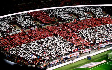 cross of st george fan mosaic wembley arena event