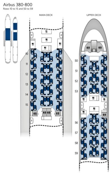 British Airways A380 seat map