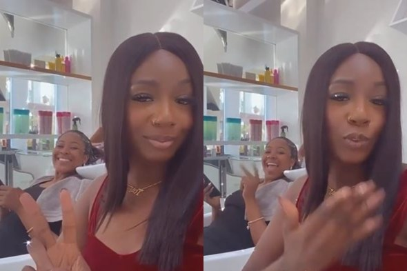 Watch Moment Tolanibaj And Erica Linked Up At The Salon (Video)