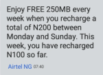 Airtel Night Data Bundle Plan 500MB For #25 On Smart Trybe