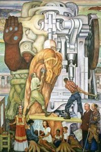 Diego Rivera's Pan American Unity mural, Panel 3, City College of San Francisco.