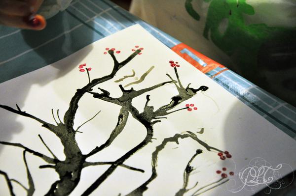 Prendre le temps - Voyageons Ludique - Asie - Cerisier japonais à l'encre de chine et peinture - Japon - 03