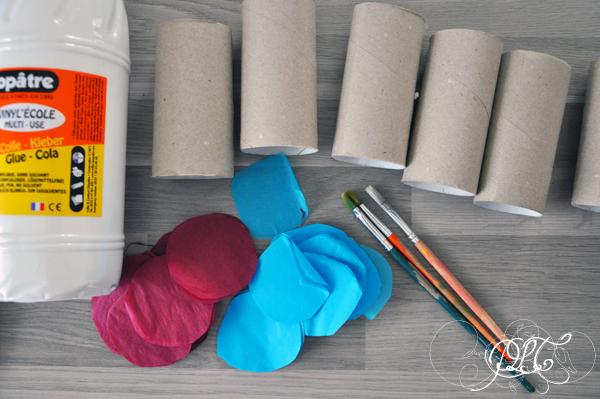 Prendre le temps - Voyageons Ludique - Asie - Poisson Koinobori en papier de soie et rouleau de papier toilette - Japon - 01
