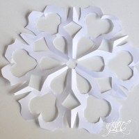 Prendre le temps - Voyageons Ludique - Neiges Éternelles - Flocon de neige en papier