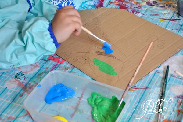 Prendre le temps - Bouclier - Epopia - carton - récup - peinture
