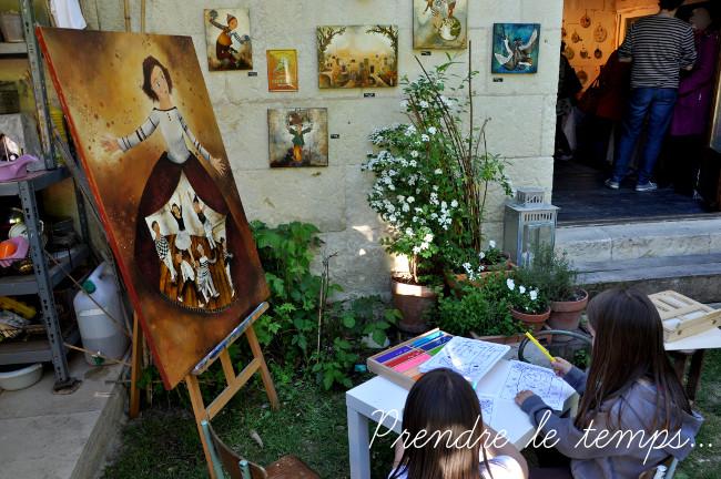 Prendre le temps - Voyage - France - Touraine - Saint-Étienne-de-Chigny - L'art en troglo