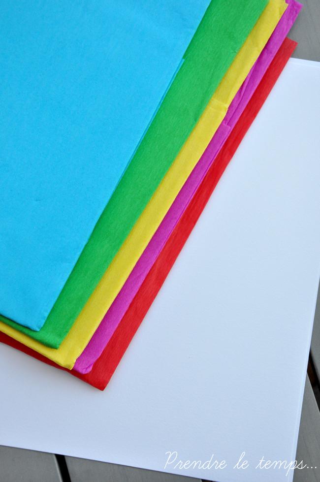 Prendre le temps - Tableau psychédélique papier crépon