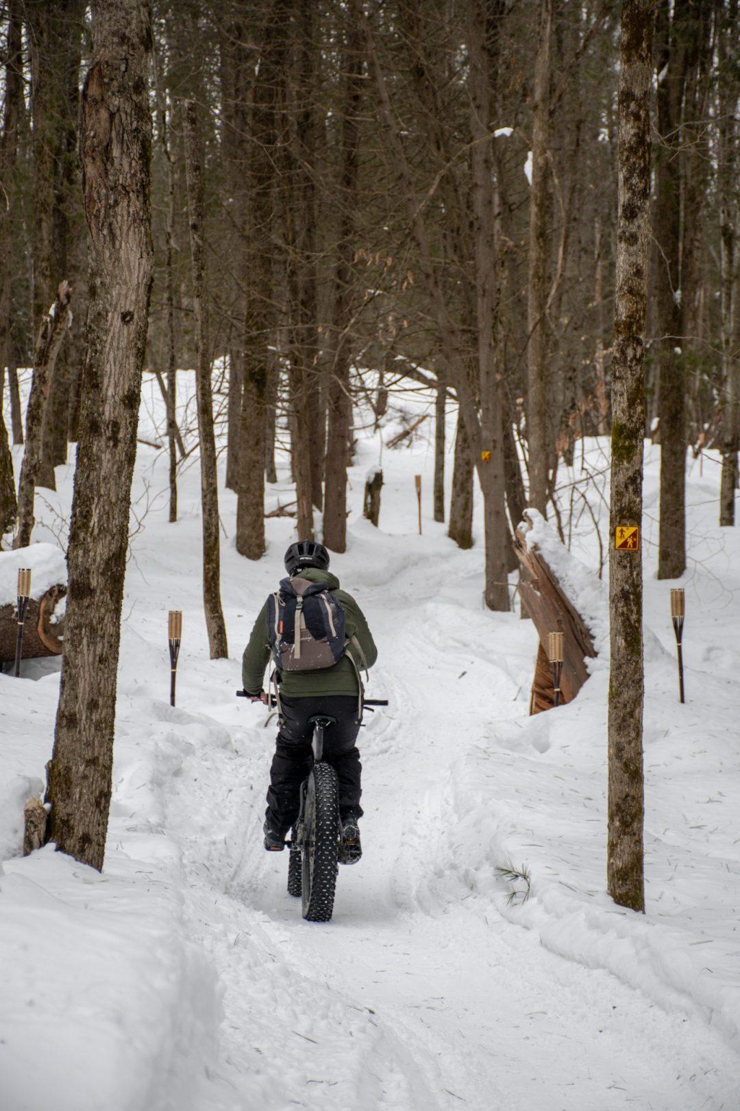 fatbike foret magog hiver