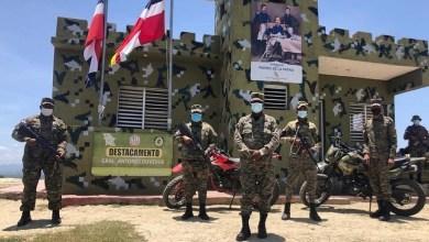 Soldados dominicanos desplegados en la frontera con Haití