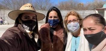 Marina Ramírez recorre comunidades