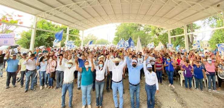 Ocampo y todo Tamaulipas se pintará de azul este próximo 6 de junio; Vicente Verastegui