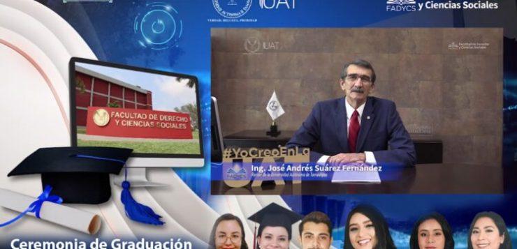 Realiza la Facultad de Derecho UAT Tampico ceremonia virtual de graduación