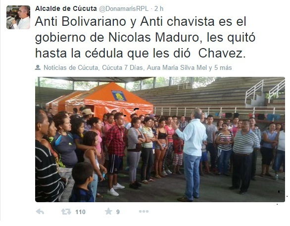 twitt de alcalde de cucuta2