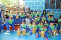 Alcaldesa Virginia Reginato, reciclaje jardín infantil