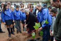 Alcaldesa Virginia Reginato, Taller reciclaje Escuela Gómez Carreño, 2
